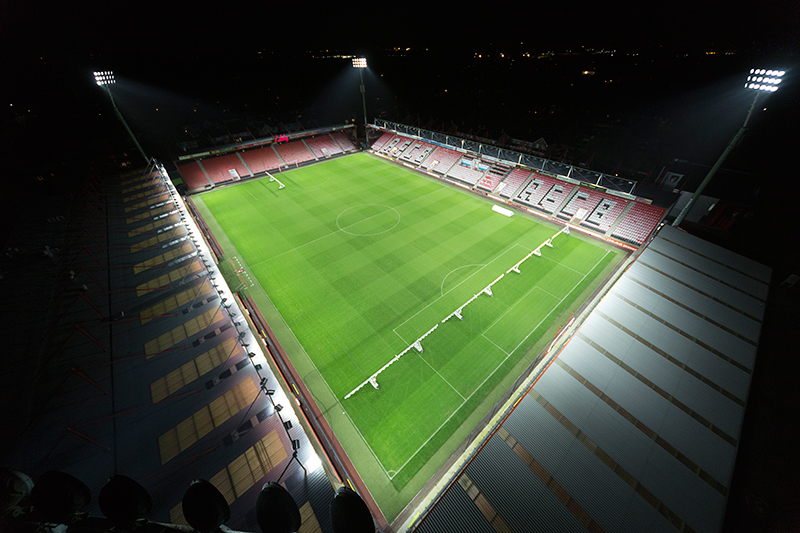 Vitality Stadium — Home of AFC Bournemouth - LED Light Source