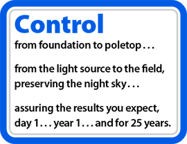 Control from foundation to poletop...