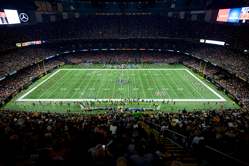 mercedes-benz superdome | musco sports lighting |