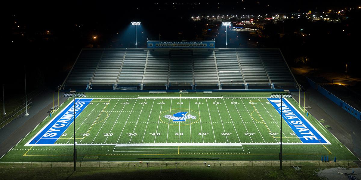Indiana State Football Stadium   Musco Sports Lighting  