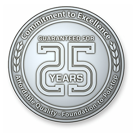 25 Year Warranty Medallion