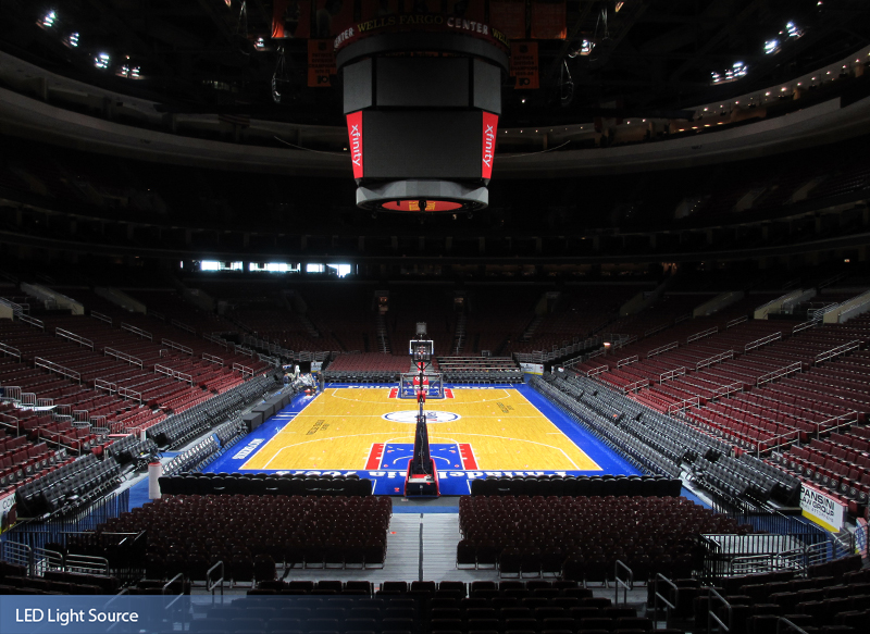 Wells Fargo Center Musco Sports Lighting