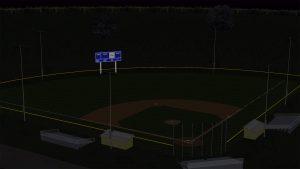 Blackout Baseball Field