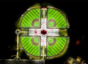 Cedar Stone Park fields aerial view
