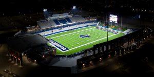 McKinney ISD Football Stadium under lights