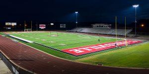 Clarksville Metheny Field under Musco TLC for LED lights